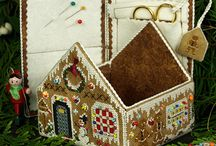 Gingerbread house / I am planning a linen sampler gingerbread house.  This board is for my ideas.