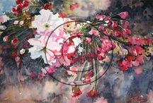 0909 Julie Goldspink / Julie works in the area of traditional media but does a lot of experimenting in the area of Mixed Media, while she is probably best known for Watercolours. She likes to describe herself best as a Realist impressionist and doesn't like to be governed by one style, medium or subject.