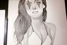My drawings / Meus desenhos, minhas artes reunidas.