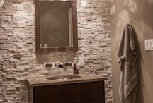 Basement Bathroom ideas / Design and Style ideas for a basement remodel.