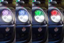 LED Angel Eyes & Headlight Accents / Trim your headlights with extra shine by installing accents. Angel eyes add an alluring halo effect sure to turn heads, or choose to line the housing with a light strip to draw in extra attention. The results are dazzling.