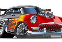 Vector Hot rod Cartoon Car