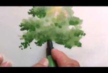 Côté vidéos peintures, huiles, aquarelles, pastels et acryliques / Vidéos sur les différentes techniques de peintures.