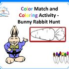 Color Word - Bunny Rabbit Hunt / Color Word - Bunny Rabbit Hunt. Whether helping your students or little one's learn their colors or finding indoor activities to keep them entertained, you're going to love this Bunny Rabbit color matching and coloring printable!