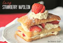 Fancy pastries / Bon jour! Welcome to my board of Napoleon and fancy European pastry recipes.  Some look too pretty to eat!  Feel free to comment and enjoy!