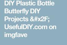 butterfly plastic bottle