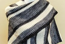 Crochet - clothing for me / Beautiful modern striped shawl to crochet for adult woman