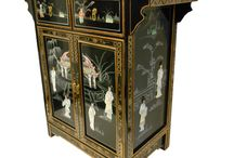 Chinese Lacquer Furniture / Beautiful solid wood furniture from Asia has been hand selected for you to enjoy for years.  As many as 10 coats of lacquer have been hand-finished to a mirror finish.