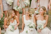 Neutral Bridesmaid Dresses / Neutral colors like champagne, soft taupes, creams, grays and golds make up this collection of neutral bridesmaid dresses for your wedding party.
