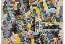 art quilt maps and fantasy maps
