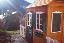 Our customers Cedar Playhouses, and playhouse ideas / Images of our Cedar Playhouses in situ