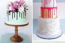 Drip Wedding Cakes / Wedding cakes with drip effects