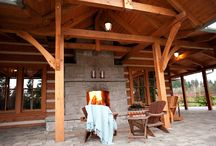 Outdoor Living / Outdoor living is crucial to log home living