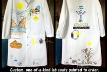 Lab Coats Customized for Science / I love using fabric markers to customize lab coats for teachers.  This board has examples of some of the coats I have created.  The price for the coat, customization, and shipping starts at $100. Info@ScienceWear.net if you would like more information.