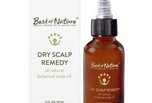 Dry Scalp Oils / http://www.dryscalpgone.com/best-of-nature-dry-scalp-remedy-review/  Oils to treat dry scalp.