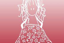 Pretty illustrations / Questi disegni sono stati creati tutti da me ;)