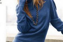 Синий.. / Синий свитер #синий# #свитер# #вязание#