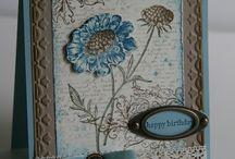 RETIRED - STAMPIN' UP! - FIELD FLOWERS / Handgemaakte kaarten met stempeltechnieken, cadeauverpakkingen en andere creaties gemaakt met de Stampin' Up! stempelset FIELD FLOWERS  {RETIRED - DEZE STEMPELSET IS NIET MEER VERKRIJGBAAR}
