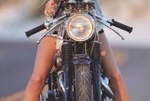 girl on a motorcycle