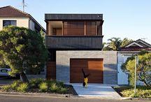 Narrow block houses