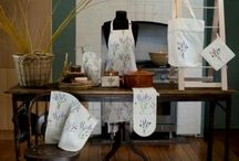 Australian Certified Organic Lavender & Bee kitchen textiles / Smell the lavender and hear the bees with our new certified organic kitchen textile range.