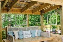 Backyard Ideas / Back yard and patio ideas
