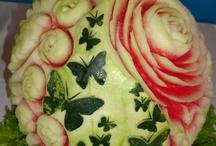 frutta e verdura intagliata