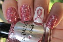 breast cancer nails / by Ronda Neidig