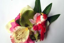 Bow clips - hair flowers / flowers, millinery, accessories