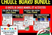 Civics Government Choice Boards