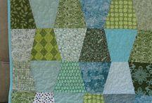 Tumbler Block quilts