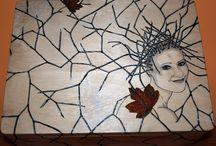 moje / malowane na drewnie
