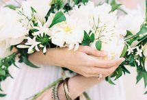 Белые свадебные букеты