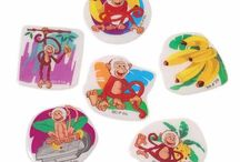 Monkeys! / From monkey coloring books to monkey finger puppets, we have all your monkey themed party needs!