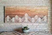 reclaimed wood wall decor