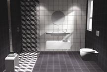 collection Patchwork / GR / Σχέδια μπάνιου σε μονοκατοικία στην Λάρισα. Το μπάνιο έχει διάσταση 2,80 x 2.20 m και τελικό ύψος 2,40 m.