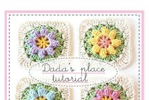 Primavera Flowers granny squares tutorial / http://dada4you.blogspot.com.tr/2014/03/primavera-flowers-granny-square-tutorial.html?m=1