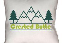 Crested Butte, Colorado Throw Pillows
