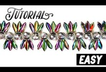 Free Tutorials  and Pattern | ScaraBeads.club / Free tutorials | Beading necklace, bracelet, pendant, earrings with Czech Glass Beads and Buttons