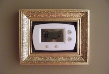 Thermostat Decor Ideas / How to decorate or hide that ugly thermostat.