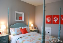 Add duck egg to my red and grey bedroom