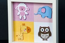 Cricut Shadowboxes / Shadowboxes created with Cricut cutouts / by Shelia Winfrey