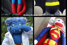 Scimmiette di pezza fatte con i calzini
