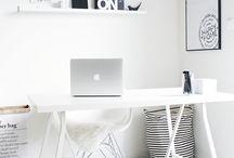 Office /// Work Space /// Büro / Working place space, scandinavian design, ideas, Inspiration,  White Living,  Skandinavischer Landhausstil