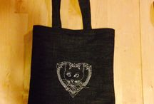 Embroidery tote bag / tote bags with an embroidery original graphic