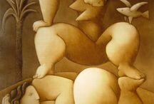 Pintura, escultura Victor Pedra