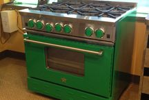 "St Patrick's Day / Happy St. Patrick's Day... Stop in to see this 36"" BlueStar Range on display at Plesser's."