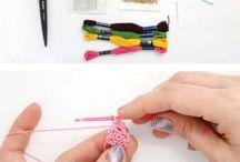Crochet Hair Combs, Pins , and Bows