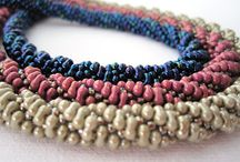 Beaded jewelry with Farfalle beads