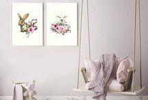 Nursery Prints / Instantly downloadable and printable nursery art prints for a modern and stylish nursery